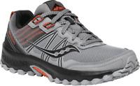 Men's Saucony Excursion TR14 Trail Running Sneaker Grey/Black/Orange
