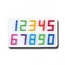 HAMA midi Bügelperlen-Stiftplatte weiß Nr.273 Zahlen
