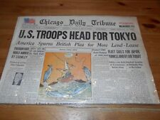 1x Chicago Daily Tribune Newspaper August 25 1945 U.S. Troops Head For Tokyo WW2