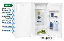 Kühlschrank mit Gefrierfach 123cm A++ LED Weiss