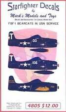 Starfighter Decals 1/48 GRUMMAN F8F-1 BEARCAT in U.S. Navy Service