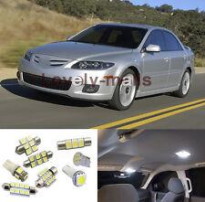Xenon White SMD Car LED Bulbs Interior Lights Package Kit for Mazda 6 2003-2008