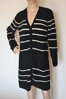 S' MAX MARA, Striped Mohair & Wool Cardigan, Size L