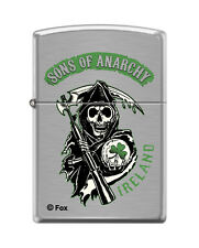 Zippo 8400, Sons of Anarchy, Ireland, Brushed Chrome Finish Lighter, Full Size