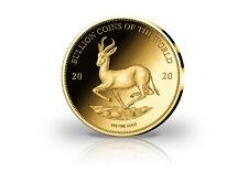 Münze 999er Feingold Motiv Krügerrand Springbock 2020 Goldmünze