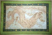 Yunus (Jonah) Swallowed By The Whale Persian Painting Handmade Miniature Art