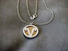 ARIES - Silver with Copper or Bronze Pendant