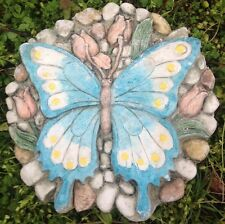 Butterfly 3, stone or plaque concrete mold, cement, plaster, ceramic, mould