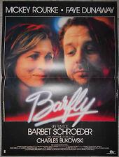 Affiche BARFLY Mickey Rourke FAYE DUNAWAY Barbet Schroeder 40x60cm