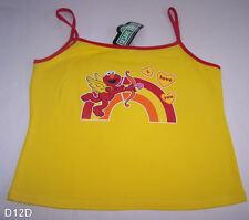 Sesame Street Elmo Ladies Yellow Printed Singlet Top Size 14 New