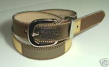 WESTERN STUDDED METALIC BROWN LEATHER BELT S 32