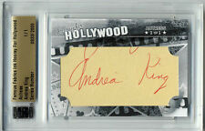 Andrea King Famous Fabrics Hooray Hollywood AUTO Cut #1/1 Georgette McKee Barry