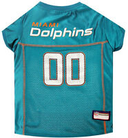 New Miami Dolphins Licensed NFL Pets First Dog Pet Mesh Jersey, Teal NWT