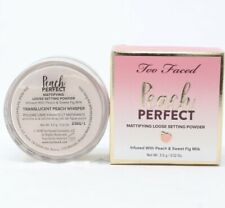 Too Faced Peach Perfect Mattifying Loose Setting Powder .12oz Travel New In Box