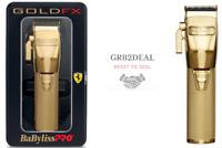 Babyliss Pro FX870G GOLDFX Professional Cord/Cordless Clipper Ferrari Engine NEW