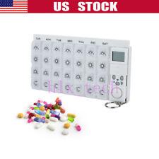 Reminder Pill Electric Medicine Storage Box Portable Drug Alarm Timer Cap Case