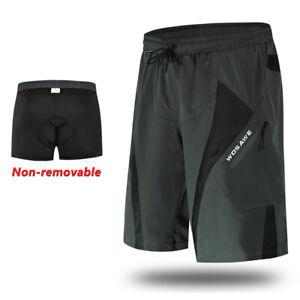 Men Baggy Cycling Short Pants 3D Padded Liner Underwear Bike MTB Downhill Shorts