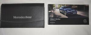 Manuel Notice Utilisation Mercedes Classe E Berline Edition 2017 Pochette Cadeau