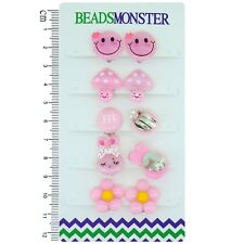 Clip On Earrings for Little Teen Girls Kids Daughter Cute Light Pink Color Gift