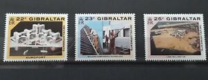 Gibraltar Stamps. 1990 Development Projects. Set of 3 unmounted mint stamps.