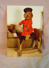 Steiff - Steiff  Teddy on Horse Postcard