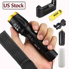 6000Lumens XML T6 LED 18650 Flashlight Torch Lamp Light Police Tactical US-3E
