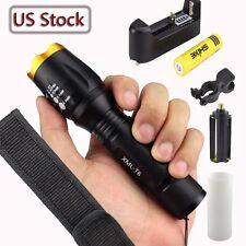 6000Lumens XML T6 LED 18650 Flashlight Torch Lamp Light Police Tactical US-1F