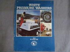 Vintage White Farm Equipment Pressure Washer Sales Brochure Tractor