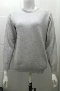 NEW The Cashmere Centre Evelyn Jumper, Foggy -  M