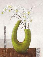 Karsten Kirchner: Majestic Stillleben 60x80 Keilrahmen-Bild Leinwand grün modern