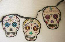 Sugar Skull Garland Luxury Fabric Bunting Home Wares Decor Gift Day of The Dead