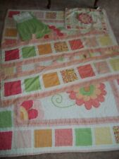 Twin Floral Quilt/Comforter Set / Sham Pillow Case/ Bed Skirt/ Curtains