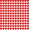 144 x Heart Shape Vinyl Stickers 10mm Self Adhesive Peel and Stick wedding decal