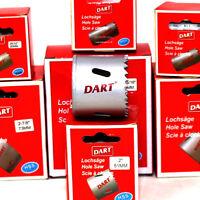 DART® BI-METAL HIGH SPEED HOLESAW 20mm - 76mm HOLE SAW ARBORS PILOT DRILLS