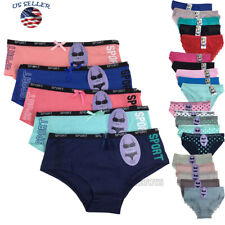 Lots of 5 Womens Hipster Boyshort Girl Panties Bikini Cotton Underwear M,L,XL(4)
