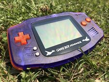 Nintendo Gameboy Advance GBA AGB-001 Orange Atomic Purple Gaming Console Pokemon