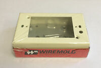 Wiremold V5741 Electrical Outlet Switch Box Steel Rectangular Single Gang NEW