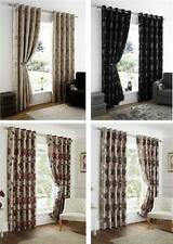 Unbranded Floral Eyelet Top Curtains & Pelmets