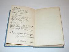 Handschriftliches Gedicht mit Autogramm Johanna Ambrosius, Buch Gedichte, 1897