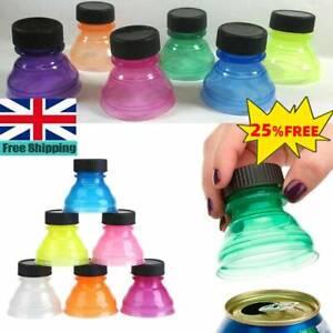 UK-3/6*Caps Snap Bottle Top Can Cover Fizz Coke Soda Lid Reusable Cap