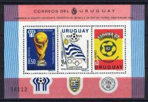 Soccer 1978 C25 MNH Uruguay Block Emblem CV 40 eur