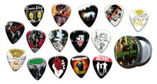 Green Day 15 X Guitar Picks with Tin ( Gold Range )