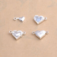 Two Parts Powerful Magnetic Heart Bracelet Clasps Jewelry Findings Silver/Gold