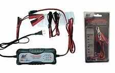 12 24V AUTOMATIC Motorcycle Car Truck SMART CHARGER + Car Battery Alternator KIT