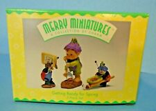 Hallmark Merry Miniatures Set Getting Ready for Spring 1997 Garden Elf Lady Bug