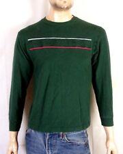 vtg 90s euc Tommy Hilfiger Spell Out Flag Logo LS Shirt T-Shirt hip hop Youth L