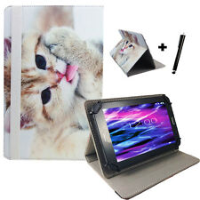 7 pollici motivo Tablet Custodia Guscio Astuccio-Point of View Mobii i550-GATTO 2 7