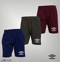Mens Umbro Printed Logo Brushback Fleece Sweat Shorts Sizes from S to XXL