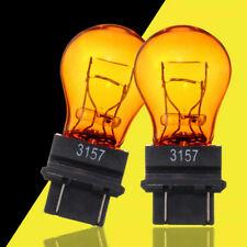 2x T25 3157 Amber Yellow Glass Halogen Brake Stop Lights Turn Signal Lamp Bulb