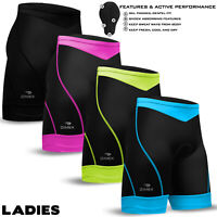 Ladies Cycling Cycle MTB Shorts Long Length Coolmax Anti-Bac Padded XS,S,M,L,XL